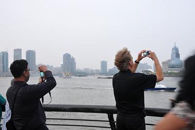 Photographers at The Bund, Shanghai, China.