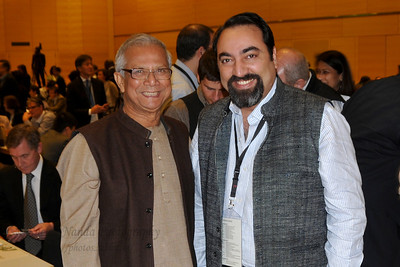 Suchit Nanda with Prof Yunus at the Global Social Business Summit (GSBS) 2011 at Vienna, Austria.
