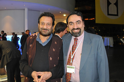 Film director Shekhar Kapur with Suchit Nanda at the Global Social Business Summit 2010 in Autostadt, Wolfsburg, Germany, 4-5 November 2010; Grameen Creative Labs.