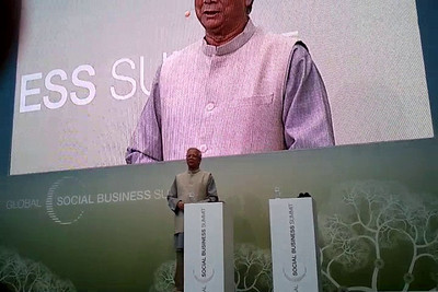 Welcome address by Nobel Peace Prize Laureate Prof. Muhammad Yunus, at the Global Social Business Summit 2010, held in Autostadt, Wolfsburg, Germany. Details can be seen at:   http://www.gsbs2010.com/
