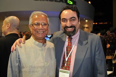 Suchit Nanda with Nobel Peace Prize Laureate Prof. Muhammad Yunus, Grameen Creative Labs in Wolfsburg, Germany.