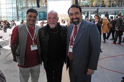 Sudarshan, Paulo Coelho and Suchit Nanda. Global Social Business Summit 2010, Autostadt, Wolfsburg, Germany 4-5 November 2010 by Grameen Creative Labs.
