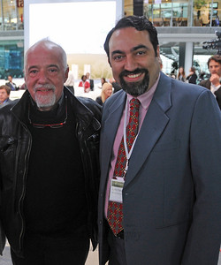 Paulo Coelho and Suchit Nanda at the Global Social Business Summit 2010, Autostadt, Wolfsburg, Germany 4-5 November 2010 by Grameen Creative Labs.