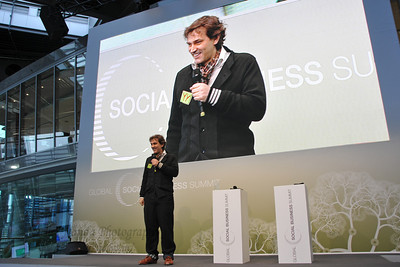 Hans Reitz (The Grameen Creative Lab GmbH), at the Global Social Business Summit, in Wolfsburg, Germany.