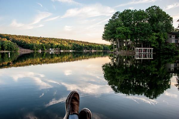 Domino vacation at Shults' lake house