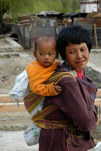 Mother & Child Bhutan