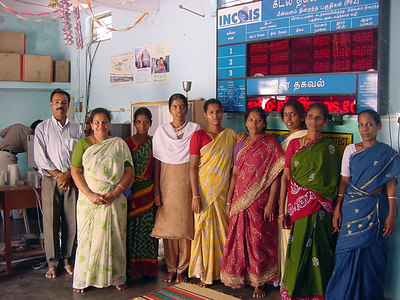Women and volunteers at Veerampattinam