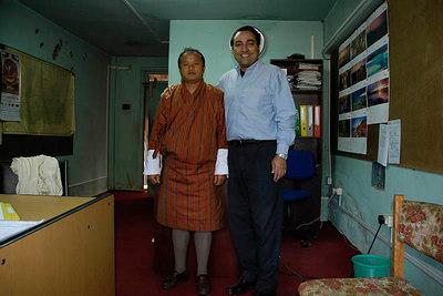 Sangay Wangchuk & Suchit @ DIT Thimphu Bhutan