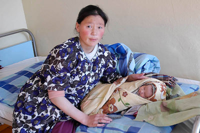 Mother & Child in Hospital Mongolia