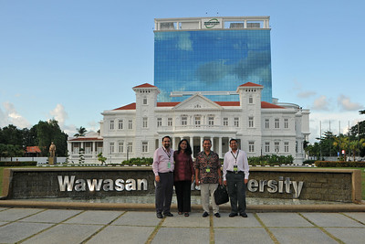 Suchit, Anu, Sriramesh, Jai at Wawasan Open University, Penang, Malaysia.  IDRC's PAN ALL 2009 CONFERENCE, Penang, Malaysia. 12-14 June, 2009. Canadian International Development Research Centre organized 3rd PAN (PAN Asia Networking) All partners' conference held in Penang to bring together its research partners in the Asian region. More than 150 participants, including project and sub-project leads, representatives from PAN research networks, targeted global researchers in ICTD, key regional practitioners and researchers, evaluators, donors and relevant IDRC staff attended the conference held at Wawasan Open University (WOU). For more details see:  http://www.idrc.ca/pan/ev-136463-201-1-DO_TOPIC.html  and http://panall.crowdvine.com/