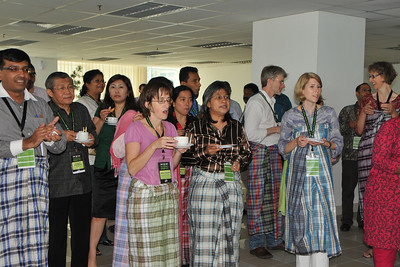 Tea break with a difference - Malaysia style. IDRC's PAN ALL 2009 CONFERENCE, Penang, Malaysia. 12-14 June, 2009. Canadian International Development Research Centre organized 3rd PAN (PAN Asia Networking) All partners' conference held in Penang to bring together its research partners in the Asian region. More than 150 participants, including project and sub-project leads, representatives from PAN research networks, targeted global researchers in ICTD, key regional practitioners and researchers, evaluators, donors and relevant IDRC staff attended the conference held at Wawasan Open University (WOU). For more details see:  http://www.idrc.ca/pan/ev-136463-201-1-DO_TOPIC.html  and http://panall.crowdvine.com/