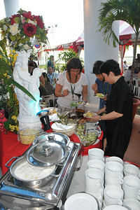Evening BBQ at WOU Univ. IDRC's PAN ALL 2009 CONFERENCE, Penang, Malaysia. 12-14 June, 2009. Canadian International Development Research Centre organized 3rd PAN (PAN Asia Networking) All partners' conference held in Penang to bring together its research partners in the Asian region. More than 150 participants, including project and sub-project leads, representatives from PAN research networks, targeted global researchers in ICTD, key regional practitioners and researchers, evaluators, donors and relevant IDRC staff attended the conference held at Wawasan Open University (WOU). For more details see:  http://www.idrc.ca/pan/ev-136463-201-1-DO_TOPIC.html  and http://panall.crowdvine.com/