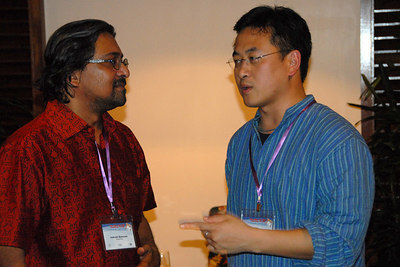 Dr. Indrajit Banerjee, Secretary-General, AMIC and Phet Sayo, IDRC, Singapore.