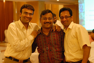 The Three musketeers: Vipul Sir, Srini Sir and Narayan Sir. MT Educare Stategic Planning Workshop at Taj Residency, Nashik on 4th Oct 2007.