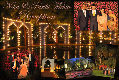 Pictures from the marriage reception of Parthiv (s/o Roopal & Kushal Mehta) & Neha (d/o Heena & Shailesh Kapadia) held at the Shantiniketan Farm of the Mehta family in Ahmedabad on 22nd December 2009.