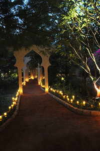 Beautifully decorated venue - Shantiniketan Farm of the Mehta family in Ahmedabad on 22nd December 2009. On the day of the marriage reception of Parthiv (s/o Roopal & Kushal Mehta) & Neha (d/o Heena & Shailesh Kapadia).