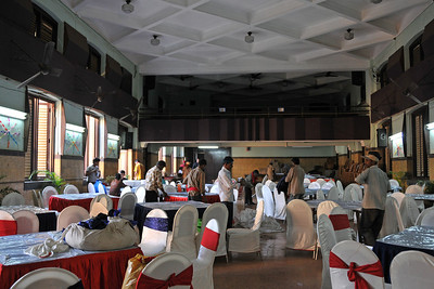 Preparations before the event. St. Xavier's High School - Batch of 1984 25 YEAR REUNION meeting held on 27th December, 2009 at the School in Dhobi Talao, Mumbai.