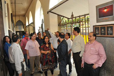 Walk down memory lane with the group visiting the primary section and other parts of the school with their wife and children.  St. Xavier's High School - Batch of 1984 25 YEAR REUNION meeting held on 27th December, 2009 at the School in Dhobi Talao, Mumbai.