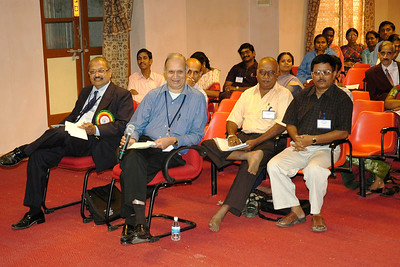 Audience interacting with the panelists. Dr. K. Subramanian in the foreground.
