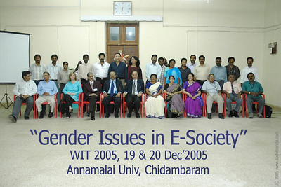 "International Conference on ""Gender Issues in E-Society"" at Annamalai Univ, Chidambaram on 19th & 20th Dec'2005"