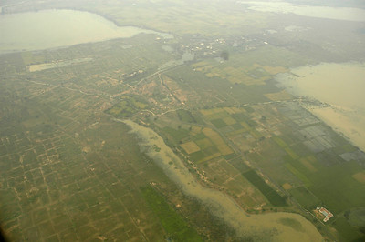 Rivers and banks around Chennai overflowed as can be seen from the ariel view. Some had to be opened up to ease the pressure or the lakes would have burst causing major devastation.