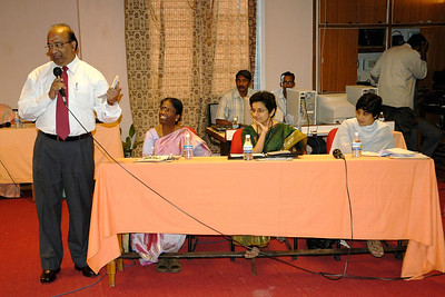 Mr. R. Ramani making a point at the Conference.