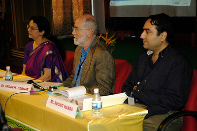 Ms. Radha Nandkumar, Mr. Andrew Bernat and myself on the panel.