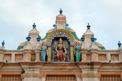 Beautiful South Indian architecture. You can see the place of women in Indian Society.