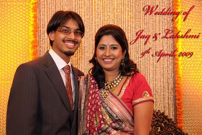 Wedding of Jay (s/o Swarup & Harsh Javeri) & Lakshmi (d/o Gayatri & Govindrajani, Mumbai on 9th April, 2009.