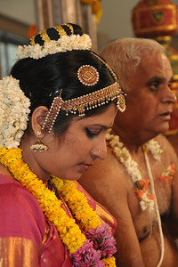 Lakshmi with her father at the begining of the ceremonies. Pictures from the wedding of Jay (s/o Swarup & Harsh Javeri) & Lakshmi (d/o Gayatri & Govindrajan) held at Sri Ahobila Mutt Hall, Chembur, Mumbai.  The venue is a sacred place consecrated by His Holiness Srivan Satakopa Sri Vedanta Desika Yatindra Mahadesika (the 44th Jeeyar of Sri Ahobila Mutt).