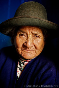 Portrait of a local woman in a Market, Cusco, Peru.