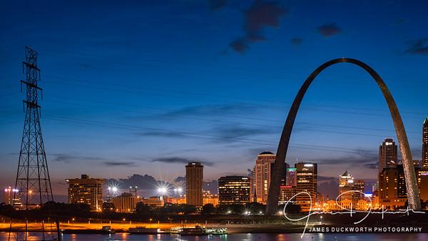 St Louis Skyline at Dusk