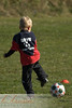 Jordyn playing soccer 10/4/08