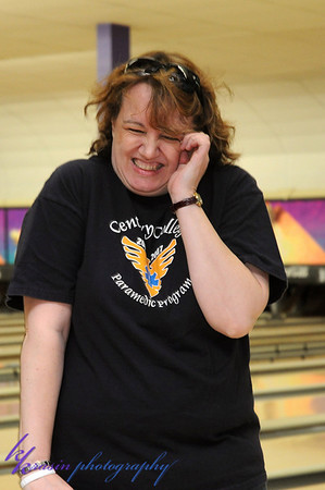 My mom's reactions... apparently she didn't bowl too well!