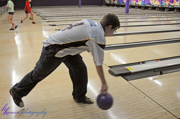 I tried to get shots of everybody bowling... here's Nick