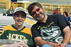 Nick & Dad at a Packer game