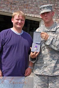"""Big"" Nick with his purple heart"