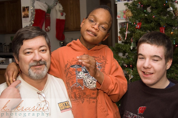 A partial family portrait--my dad, Alonzo and Nick.