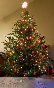 Our tree in our townhome