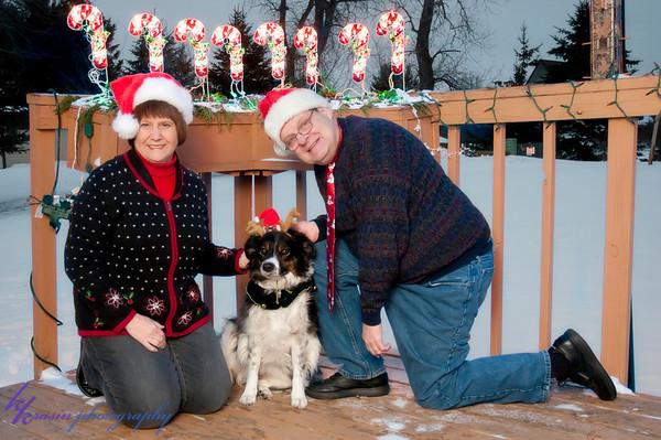Paul's parents' Christmas photo
