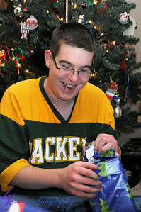 Nick was excited about opening this present