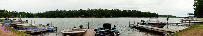 My attempt at a panorama of the view from the resort docks