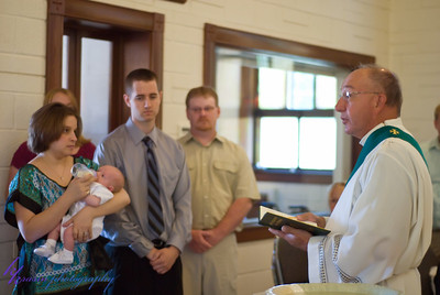 During the baptism