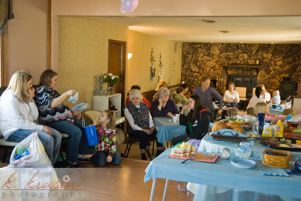 Some of the people at the shower at Matt & Malia's new house - there were tables behind me too.