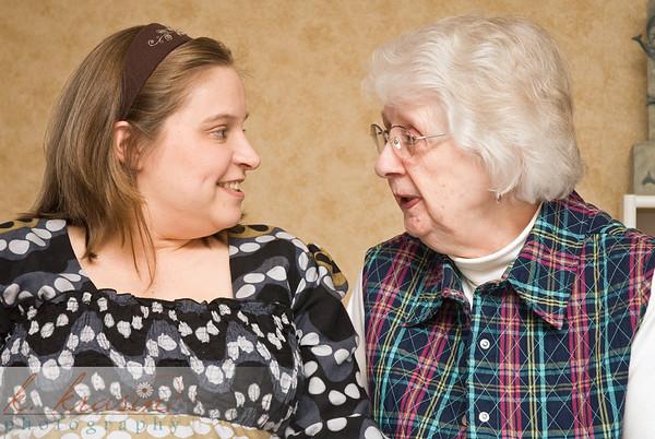 Malia's grandma telling her a story