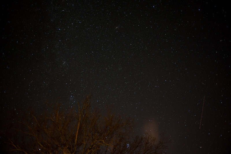 Long-exposure night sky scene, part of a time-lapse sequence