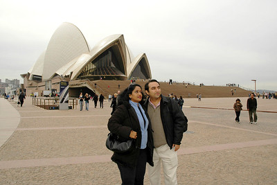 Anu & Suchit Opera House, Sydney, Australia, July 2005.