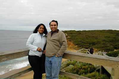 Anu & Suchit in Australia, July 2005.
