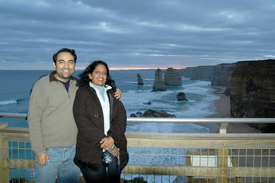 Anu & Suchit at the Twelve Apostles, Port Campbell, Victoria, Australia