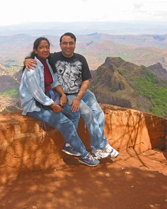 Anu & Suchit in Matheran, June 2003.